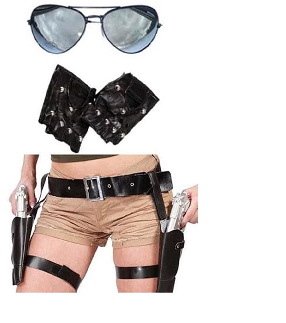 Mega_Jumble® Lara Croft Style Tomb Raider Twin Guns Thigh