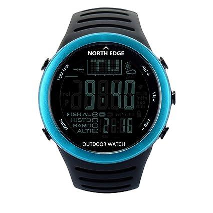 WWGG Reloj De Pesca Deportiva, Reloj Smart Digital Display-50M Impermeable Brújula Altímetro Barómetro