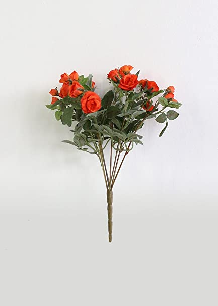 Amazon allstate floral craft mini silk flower rose bush in allstate floral craft mini silk flower rose bush in orange 105quot mightylinksfo