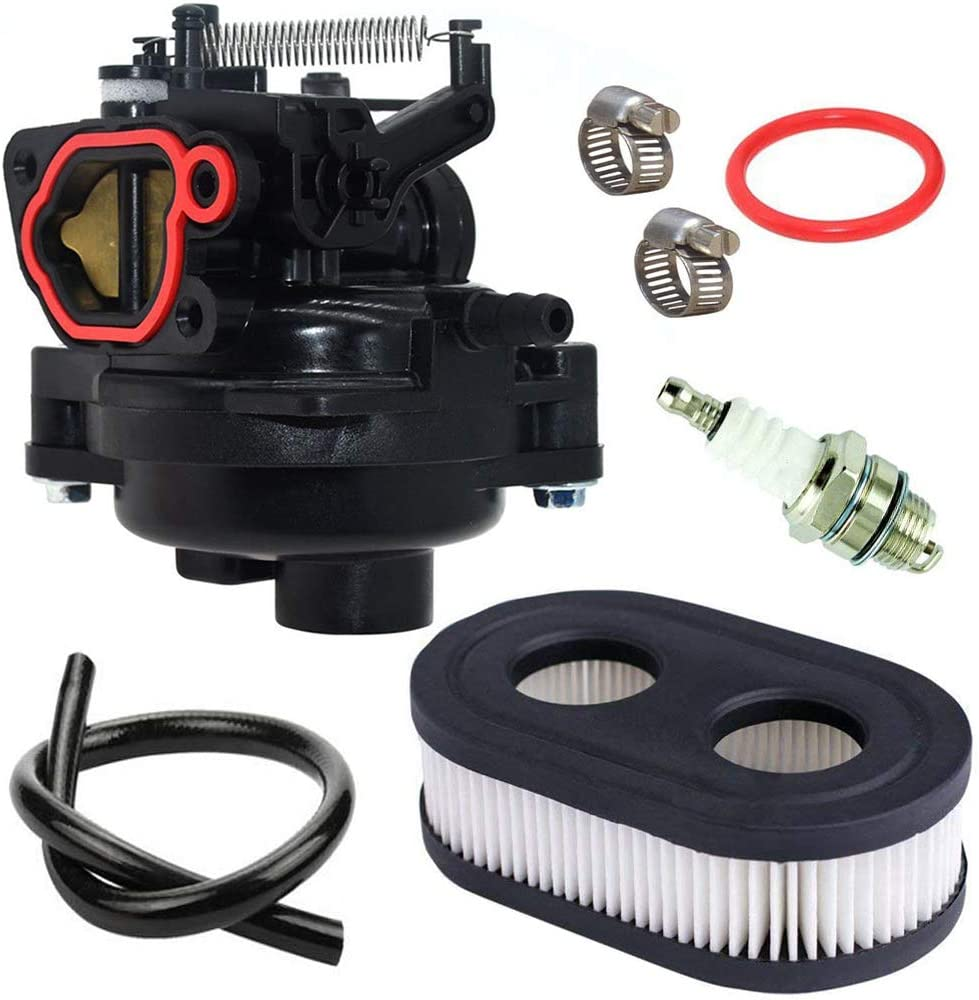 Lawn Mower Carburetor Replacement Parts Fits Briggs /& Stratton 09P702 9P702 550EX 625EX 675EX 725 EXI 140cc Engines Carb with Air Filter Spark Plug Gasket Kit 799584 Carburetor
