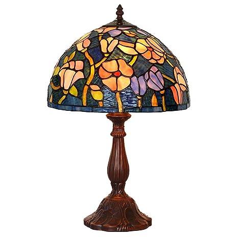 Lámpara de mesa estilo Tiffany, 12 pulgadas estilo europeo ...