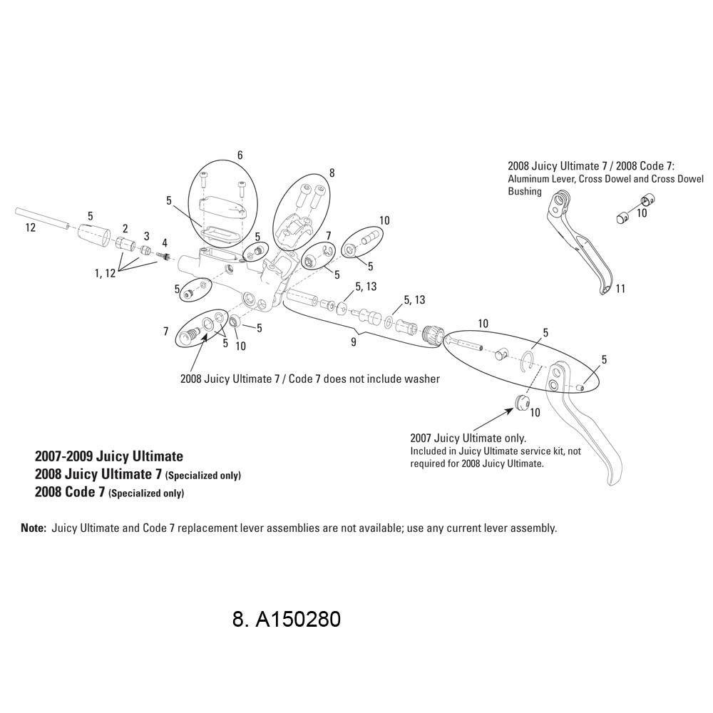 Avid Lever clamp+Bolt kit blk ea 07-09 J-Ultimate