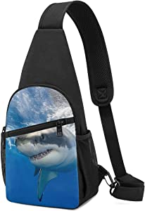 Great White Shark In Mexico Fashion Sling Bag Unisex Shoulder Backpack Chest Pack Causal Crossbody Daypack