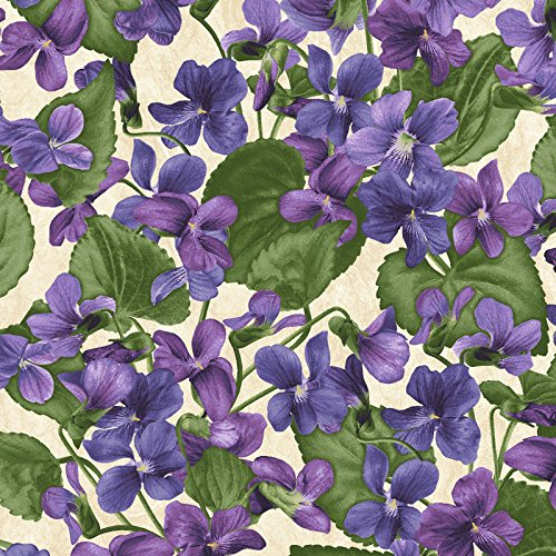 Arabella~Packed Violets~Floral Cotton Fabric, Quilt,~Maywood (Violet Quilt Fabric)