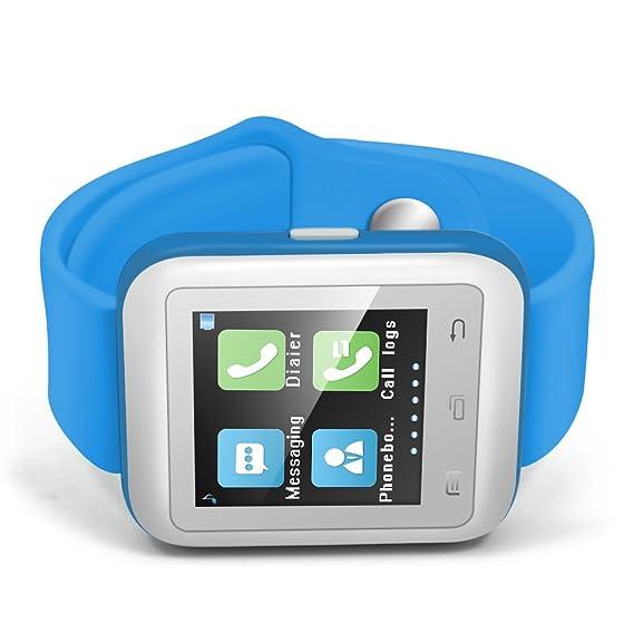 Haehne Inteligente Reloj Bluetooth 3.0 del Teléfono Móvil del Reloj del Reloj, 1.44