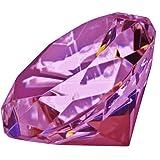 Diamant Décoratif En Verre Couleur VIOLET MAUVE- Presse-Papier - Diamètre 6cm