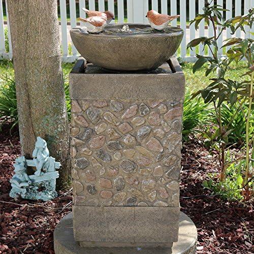 Sunnydaze Three Bathing Birds Outdoor Water Fountain