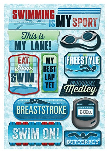 Cardstock Stickers, Swimming Is My Sport