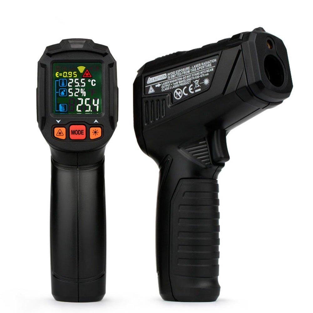 ETbotu Handheld Digital Thermometer Humidity Meter Infrared Hygrometer Temperature Pyrometer