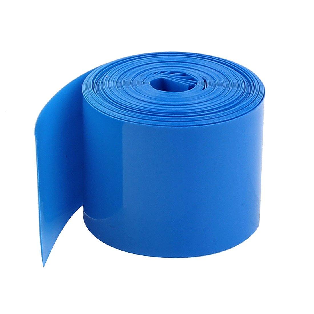 sourcingmap 5Meters 29.5mm Width PVC Heat Shrink Wrap Blue for 1 x 18650 Battery a15012900ux0429
