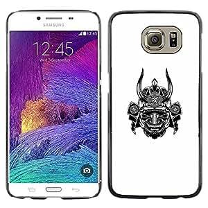 Caucho caso de Shell duro de la cubierta de accesorios de protección BY RAYDREAMMM - Samsung Galaxy S6 SM-G920 - Warrior Horn Scary Japan
