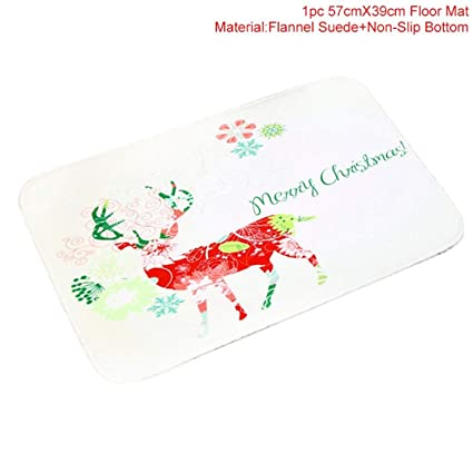 4858f0a0a Amazon.com  JEWH Merry Christmas Door Mat Santa Claus Flannel ...