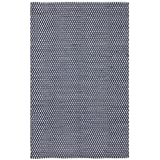 Safavieh Boston Collection BOS685D Handmade Navy Cotton Area Rug, 5 feet by 8 feet (5' x 8')