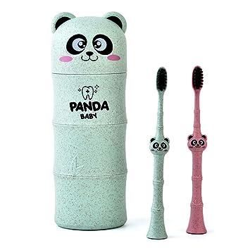 Manyo Brosse /à Dents Enfant 1 pc Couleur Al/éatoire Brosse a Dent Bambou Souple- Panda,Soins Dentaires Brosses /à Dents B/éb/é 3-12 ans