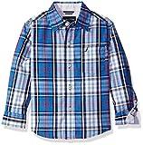 Nautica Boys' Sea Mark Plaid Long Sleeve Woven Shirt