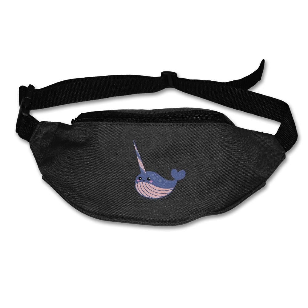 Unisex Pockets Cute Narwhal Fanny Pack Waist   Bum Bag Adjustable Belt Bags  Running Cycling Fishing c58ddd73d6