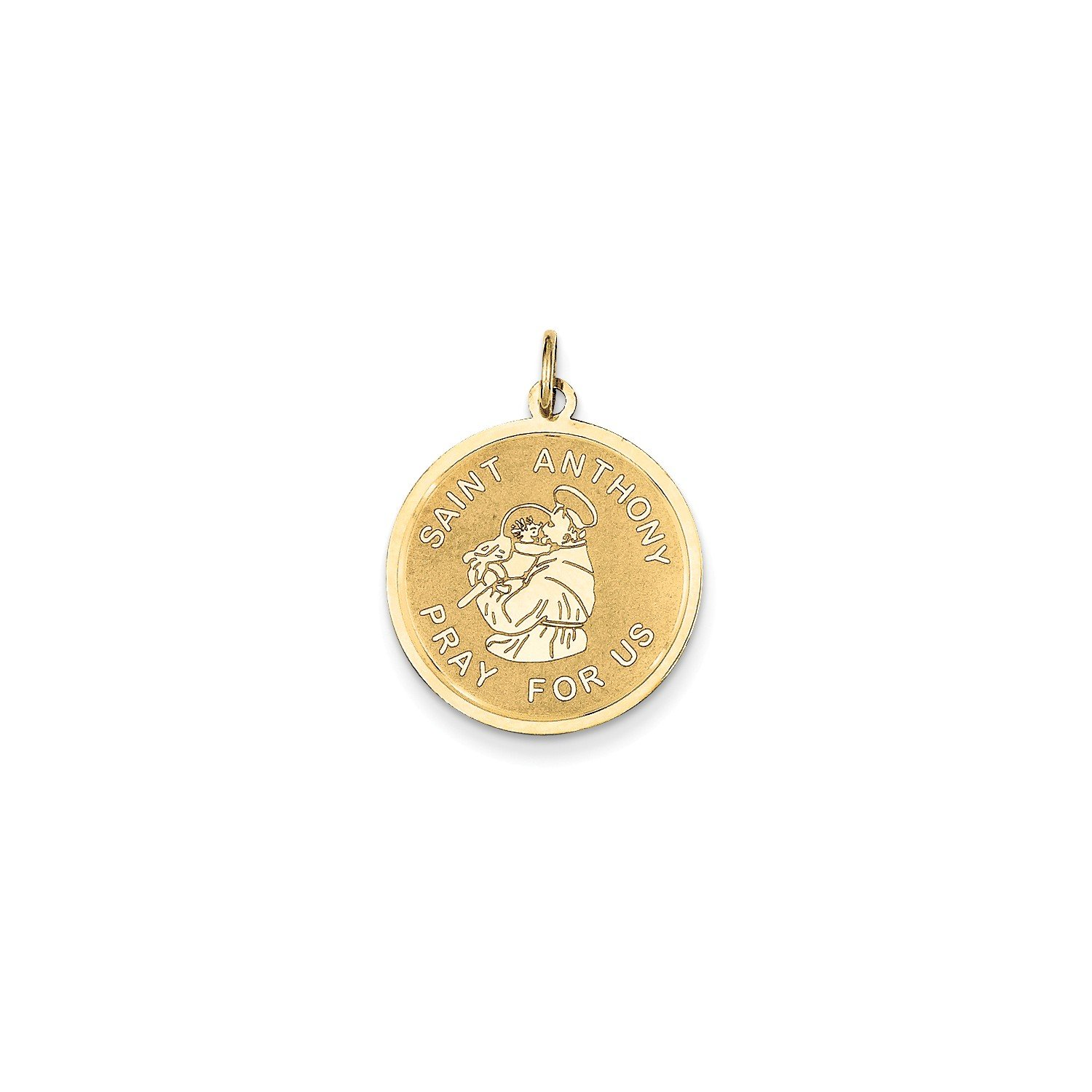 Roy Rose Jewelry 14K Yellow Gold Saint Anthony Medal Charm