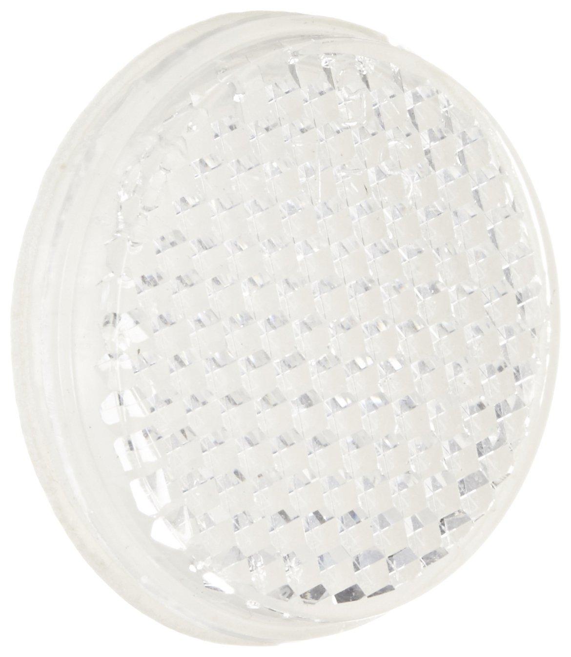 Eaton 6200A-6504 Round Retroreflector, Corner Cube Material, Adhesive Backed, 1-1/4'' Diameter, Plastic