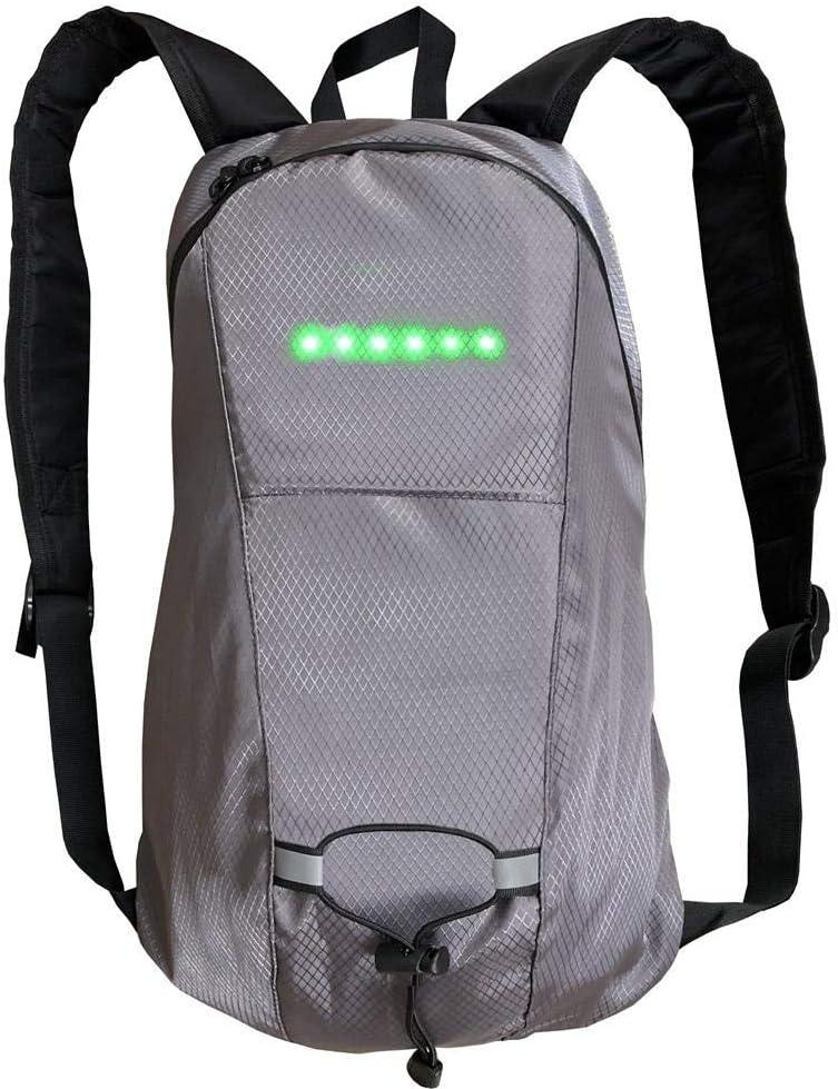 LED Blinker Rucksack mit Fernbedienung USB Wiederaufladbare Tasche f/ür Nacht Radfahren Laufen Gehen Wandern Business Travel Schultasche N//H 15L Light Reflective Riding Rucksack