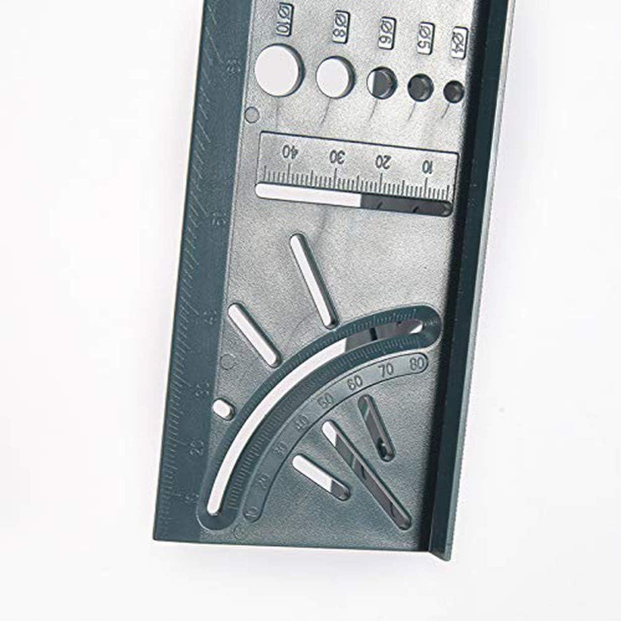 grau camellia/® Holzbearbeitung 3D Gehrungswinkel messen quadratische Gr/ö/ße Messwerkzeug t Messger/ät /& Lineal Tools
