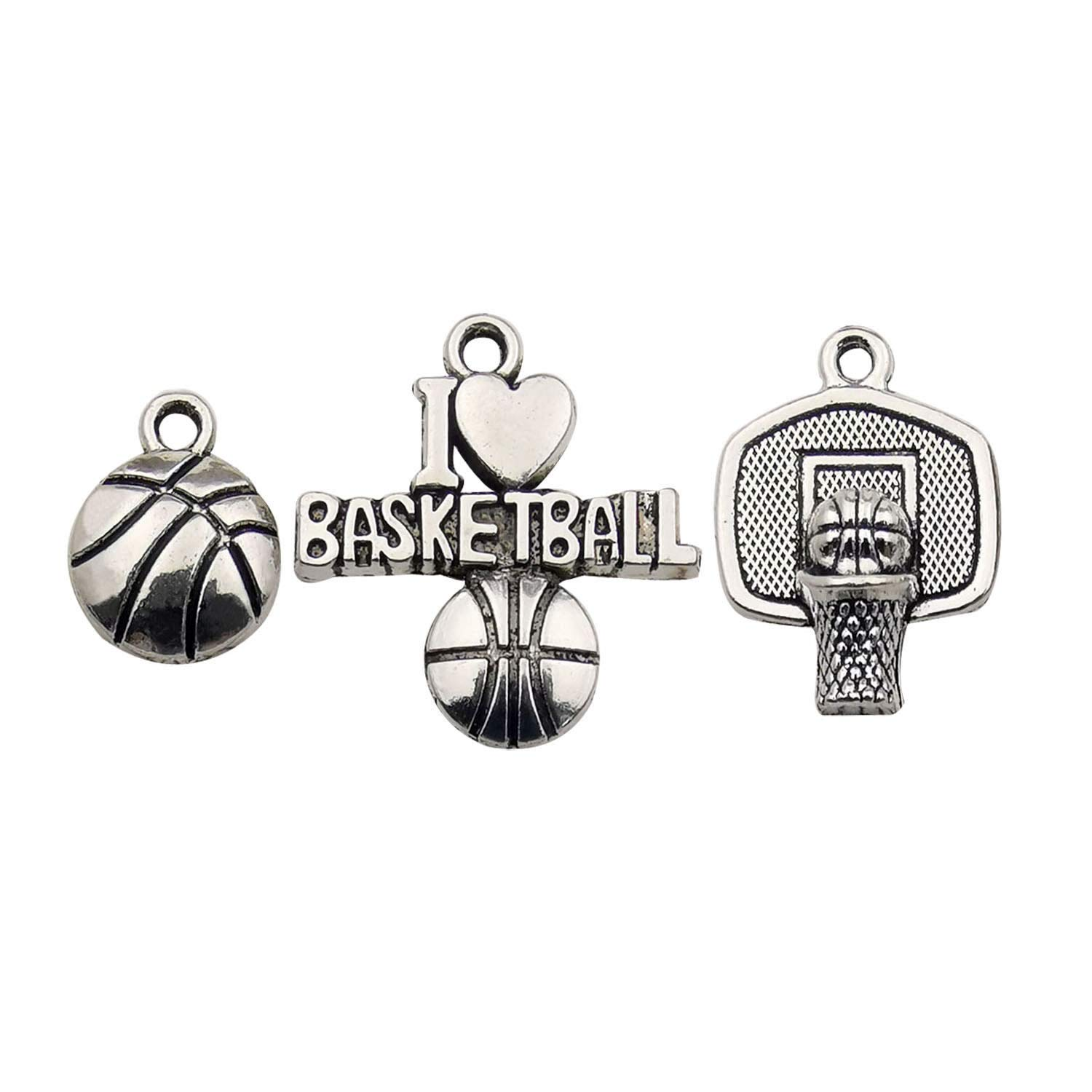 Ball Sports Charms-60pcs Alloy Ball Games Football Sports Charms for Crafting DIY Necklace Earrings Bracelet Jewelry Making Accessaries m131 (Football Charms)