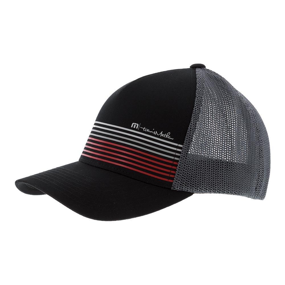 brand new 4c2a3 646bd Travis Mathew Braids Hat Black at Amazon Men s Clothing store