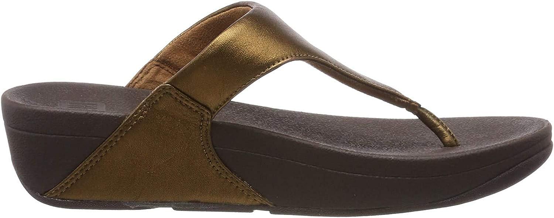 Fitflop Lulu Leather Toepost, Sandalias con Plataforma para Mujer