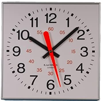 Outdoor Swimming Pool Clocks.Square Sweep Home School Swimming Pool Silver Aluminum Frame