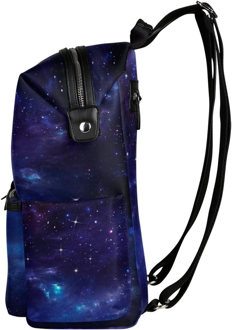 Laptop Backpack Lightweight Waterproof Travel Backpack Double Zipper Design with Cool Stars School Bag Laptop Bookbag Daypack for Women Kids