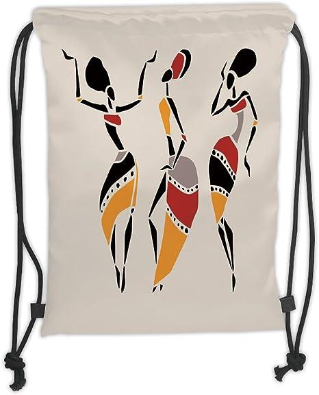 Mochilas con cordón personalizable para mujer africana, juego de ...