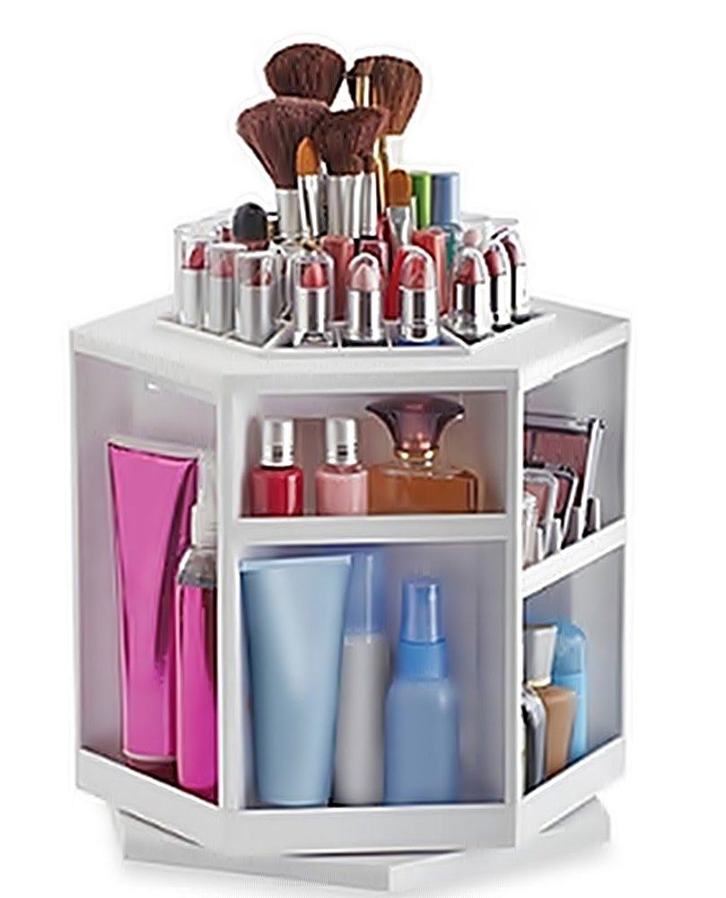 Amazoncom Spinning Cosmetic jewelry box Makeup Cosmetics