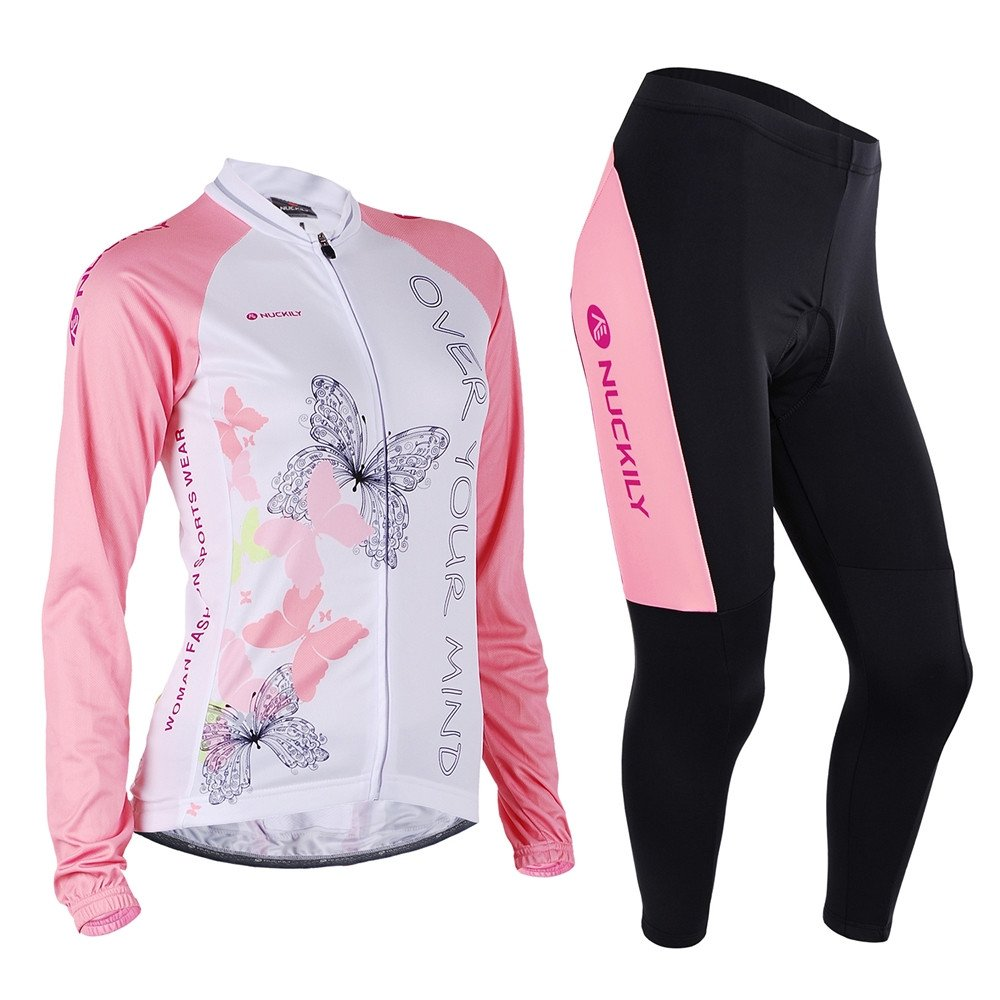 NUCKILY Women s Sublimation Custom Long Sleeve Warmer Cycling Jersey Sets  Small  Amazon.ca  Sports   Outdoors b0a560a81