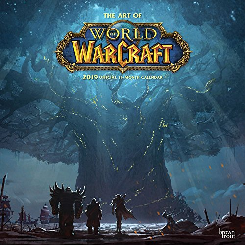 World of Warcraft 2019 12 x 12 Inch Monthly Square Wall Calendar, Video Game Blizzard Entertainment WoW