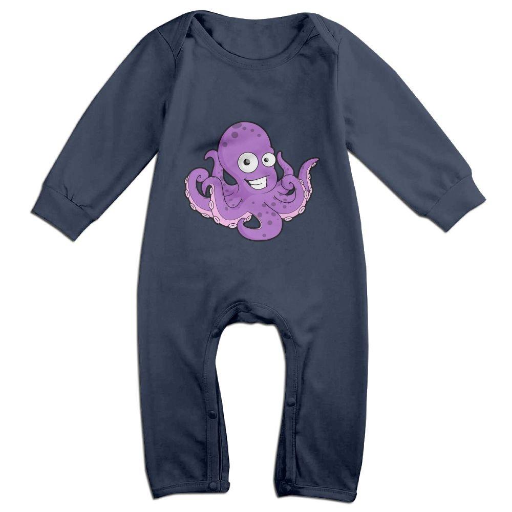 Efbj Baby Rompers Octopus Cartoon Coverall Romper Unisex Bodysuit Clothes Jumpsuit Pajamas
