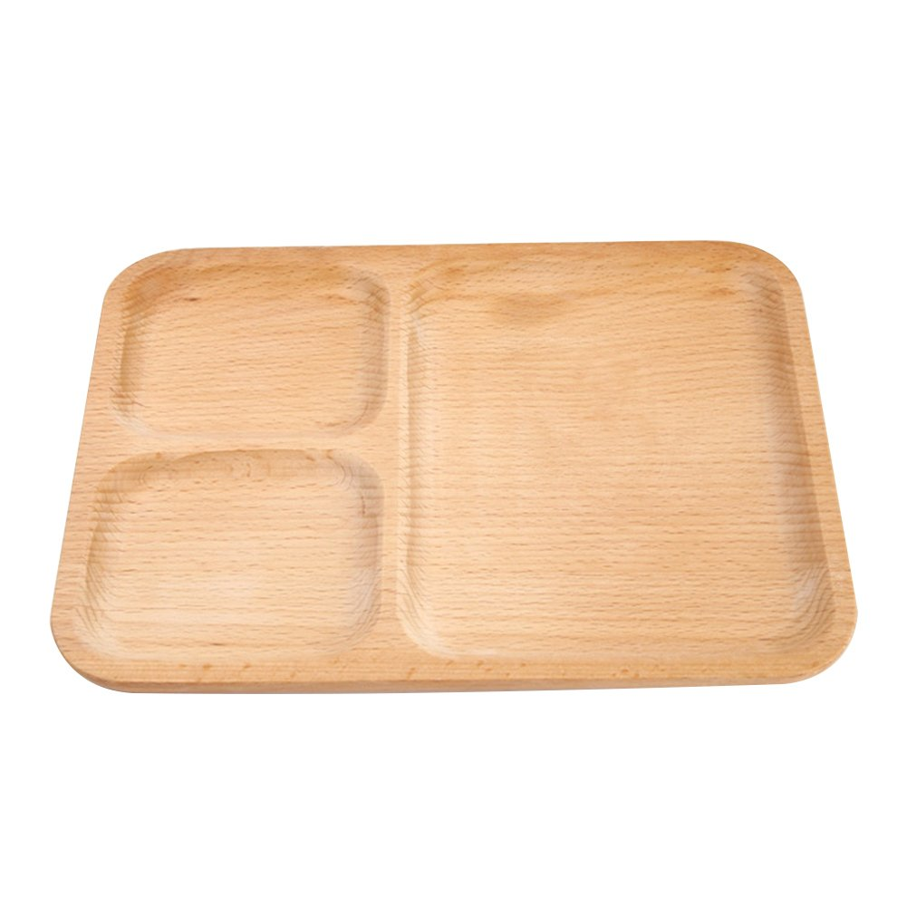 Lunch Tray for Kids and Adult, Japanese Flat Divided Dinner Trays Reusable and Eco