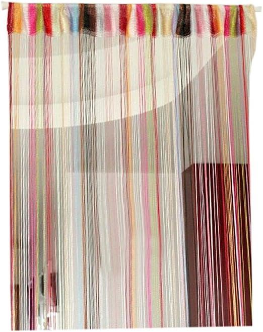 100cmx200cm Mosquito 6 Colores laamei Cortina de Hilo para Puerta con Cuentas Decorativas Divisor de Puerta Gota de Roc/ío Panel Cortina Cadena Plata para Puerta contra Insectos Moscas /…
