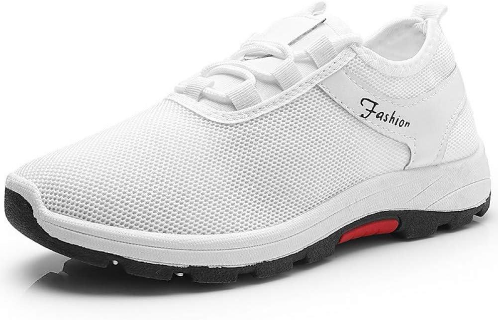 LLWAD Zapatillas de Deporte Suelas Ligeras para Hombres Tejer/Malla Primavera Deportivas/Casual Zapatos Atléticos Senderismo Zapatos/Zapatos para Caminar Transpirable Blanco/Negro: Amazon.es: Deportes y aire libre