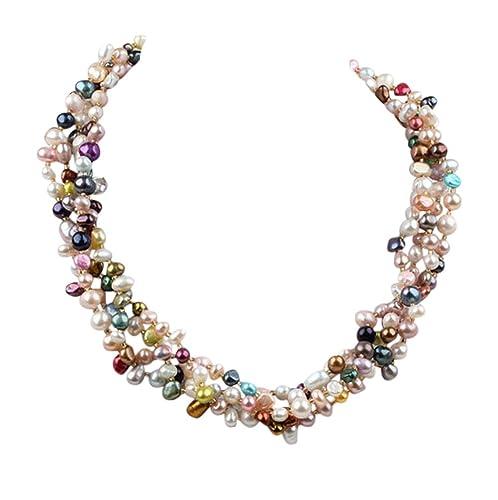 cercare colori armoniosi acquista per ufficiale TreasureBay Stupenda Collana Torchon di Perle d'Acqua Dolce ...
