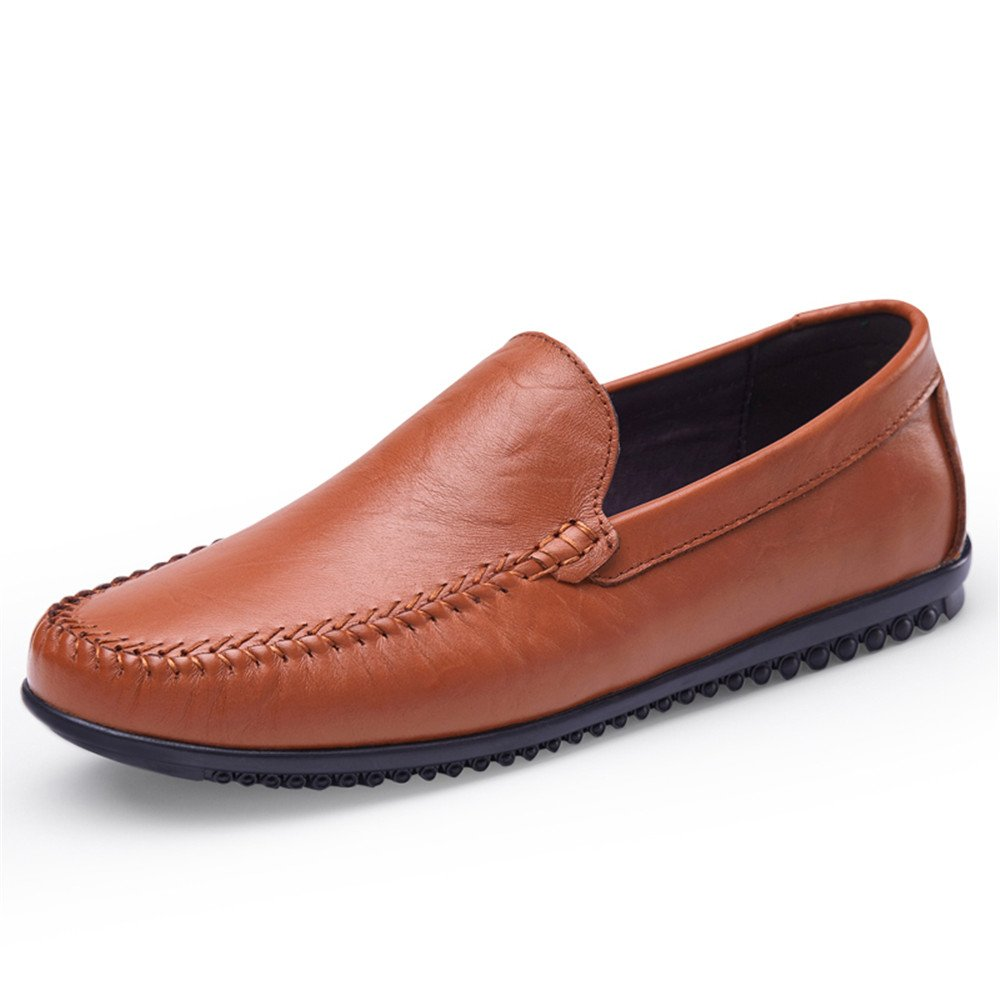 Yingxinguang Man Driving Loafer Casual Leather Soft Sole Solid Color Business Bean Shoes Small Size36 Boat Moccasins US M Color : Black, Size : 8.5 D