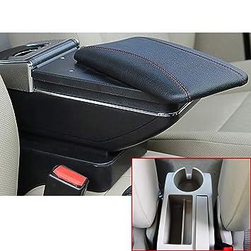 Muchkey Auto Interior Partes Calidad Brazo Resto Apoyabrazos Centro Consola Apoyabrazos Caja de Almacenamiento para 2005-2011 Jetta mk5 Golf mk5 6 Negro: ...