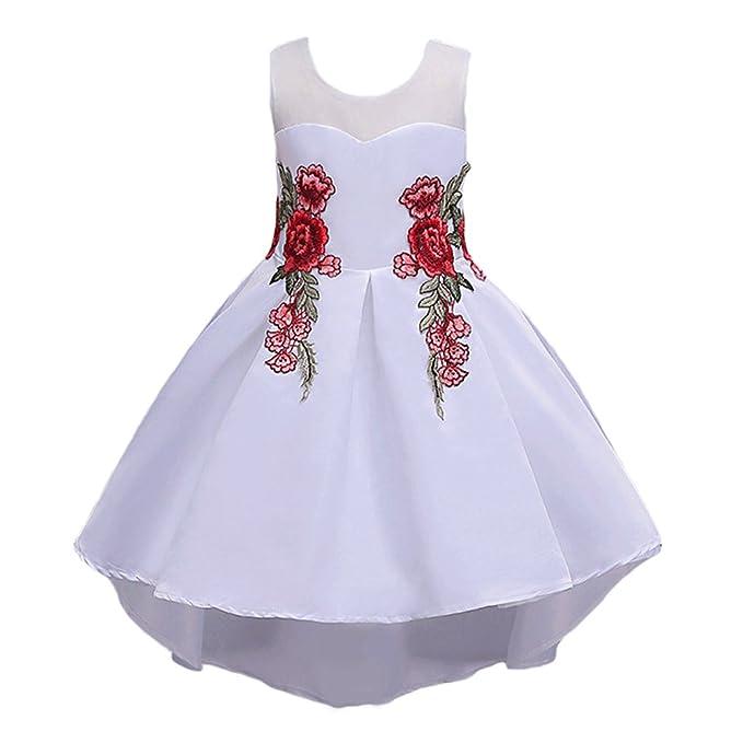 competitive price 6ec45 e250c WanYang Abito Ragazza Cerimonia Abiti da Sposa Abito da ...
