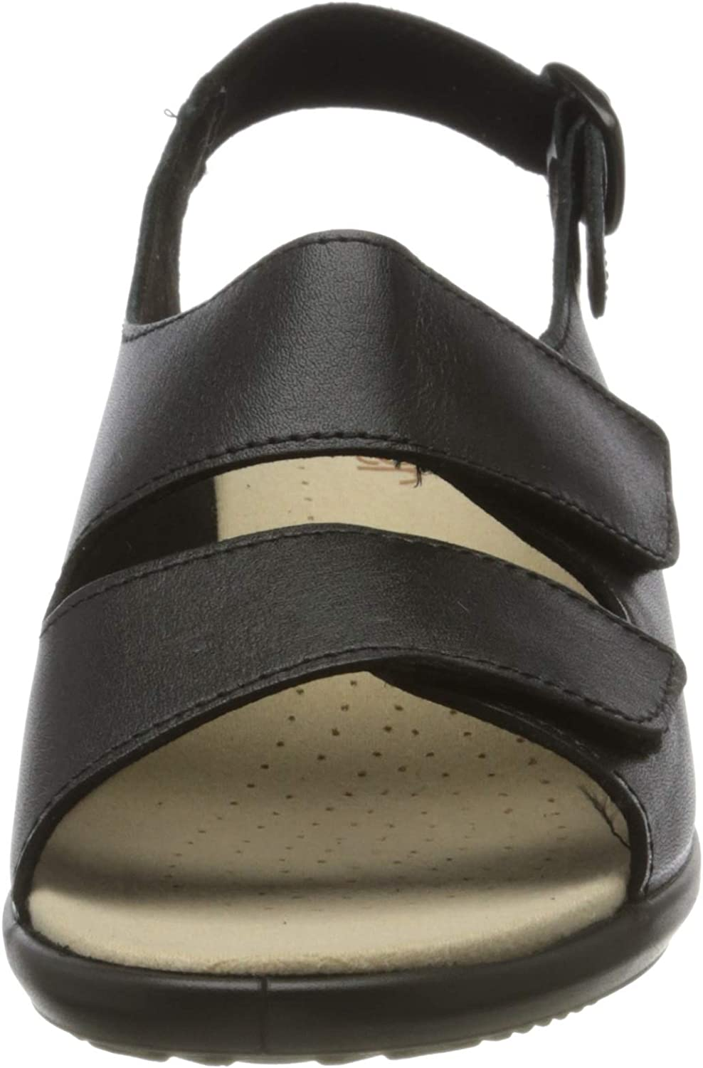 Hotter Easy Extra Wide, Sandali Donna Nero