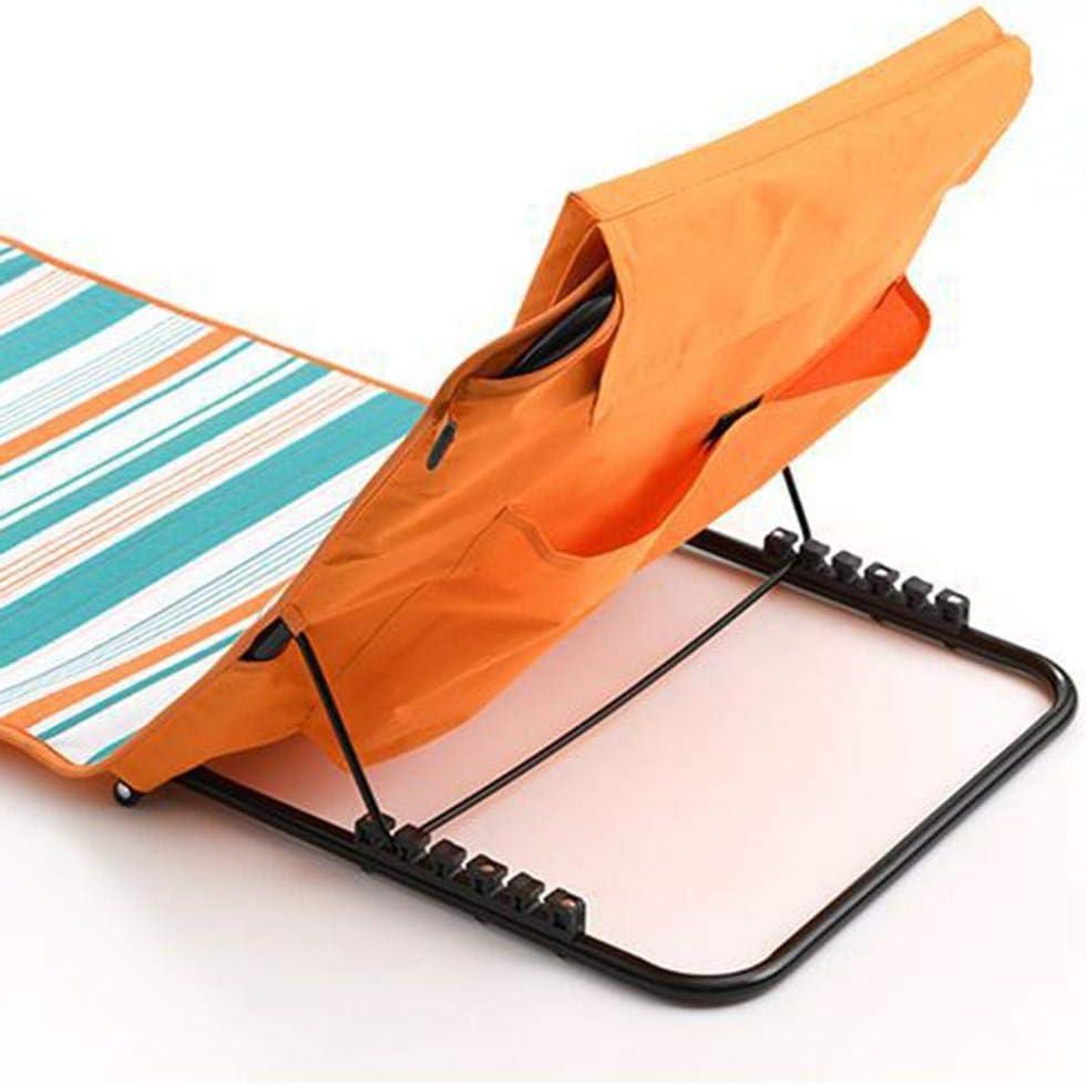 Sedie da Giardino Pieghevoli Pieghevoli con Schienale Regolabile e Tappetino da Spiaggia Bloomma per Sdraio da Esterno e Relax
