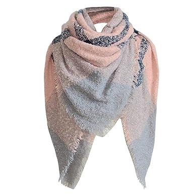 787ec5817064 Echarpes, Malloom® Femme Tartan Plaid Square Couverture large Châle Foulard  (B, 130   130cm)  Amazon.fr  Vêtements et accessoires
