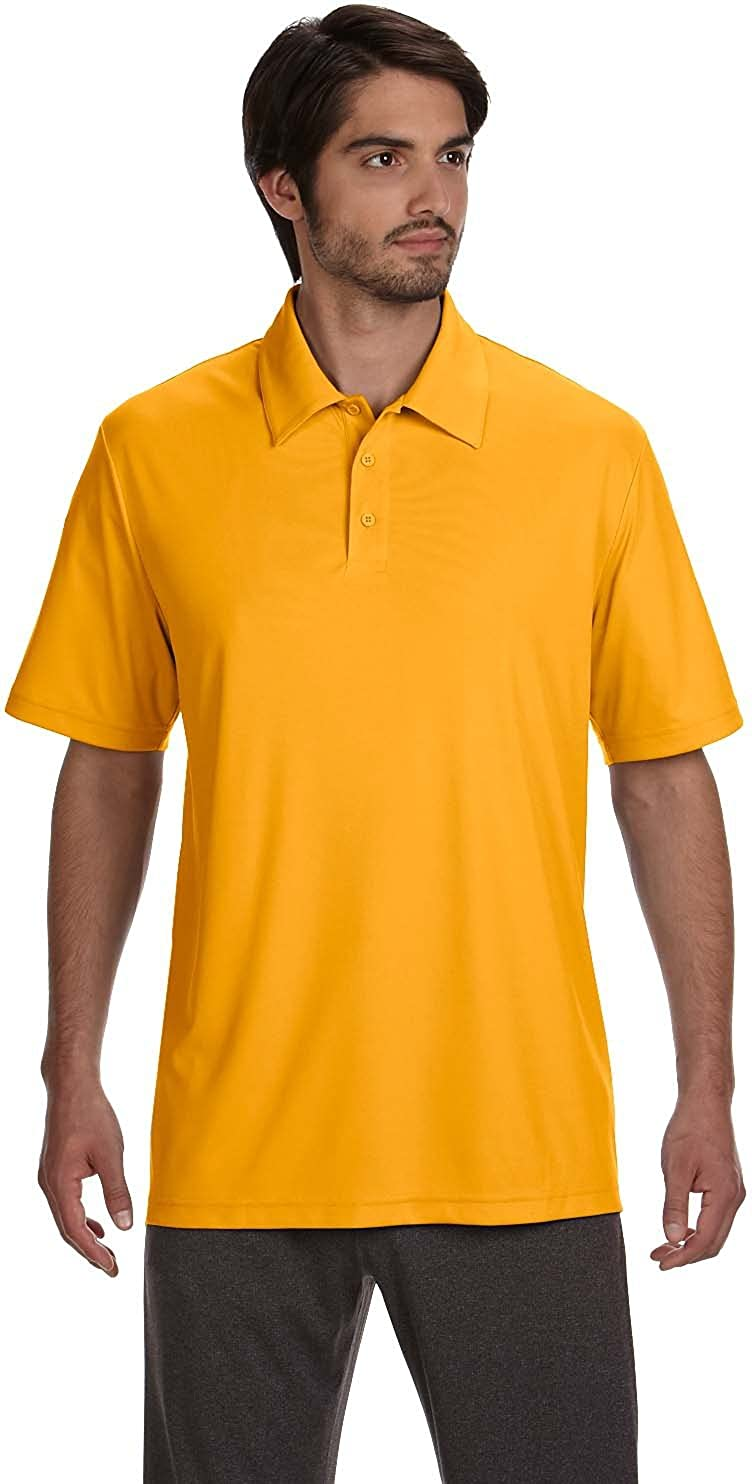 2XL ALO MENS S//S PERFORMANCE POLO SPORT ATH GOLD