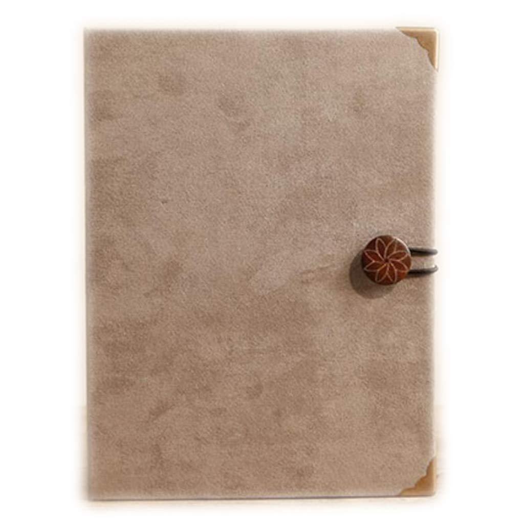 HUYYA 創造的な贈り物写真アルバム - 挿入アルバムスエードレトロ写真家のアルバムのカップルのための成長育児本ファミリーフォトアルバム4×6インチ(10×15cm)200,gray B07KN6JX12 Gray