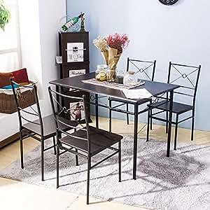 Amazon.com - Harper Bright Design 5 pcs Dining Table Set Dining Set ...