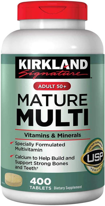 Kirkland Signature Adults 50+ Mature Multi, 400 Tablets 1: Health & Personal Care