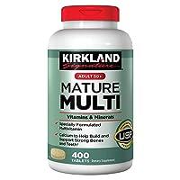 Kirkland Signature Adults 50+ Mature Multi, 400 Tablets 1