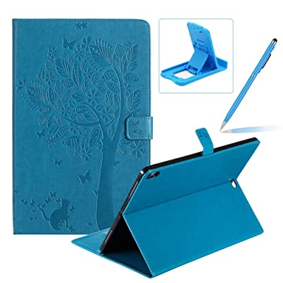 Flip Case for 2020 iPad Pro 12.9 Smart Leather Cover,Herzzer Retro Pretty Tree Butterfly Cat Design Wallet Folio Case for iPad Pro 12.9 (2020 Release,3rd Generation)+Phone Kickstand+Stylus Pen,Blue: Musical Instruments